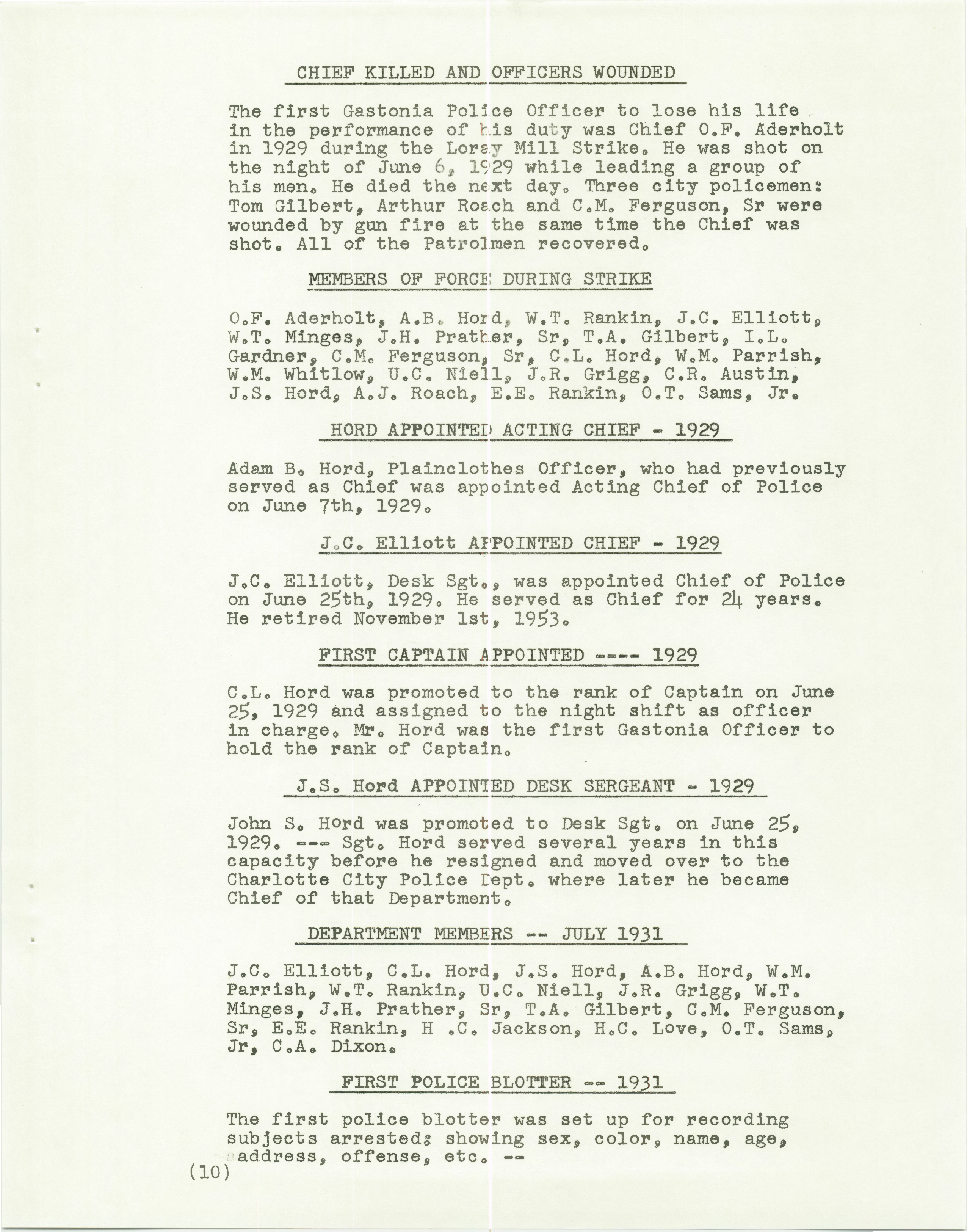 History of the Gastonia Police Department_Page_11