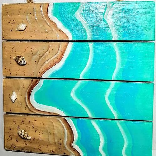 La plage vue d'en haut