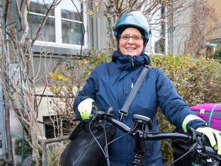 Andrea Pollheimer unterwegs auf zwei Rädern