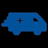 Icon of a moving ambulance