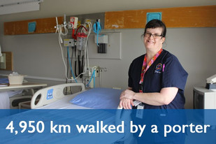 Osler porters clock a lot of kilometers but the path to great patient care is worth every step.
