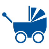 Icon of a baby stroller