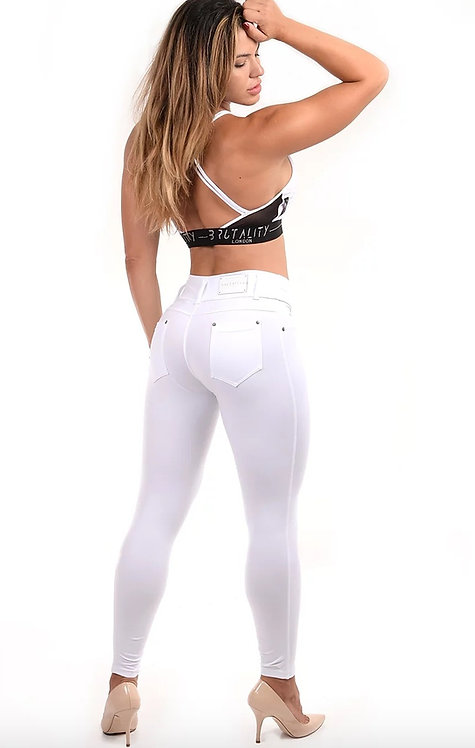 Skinny Fit White Jeans