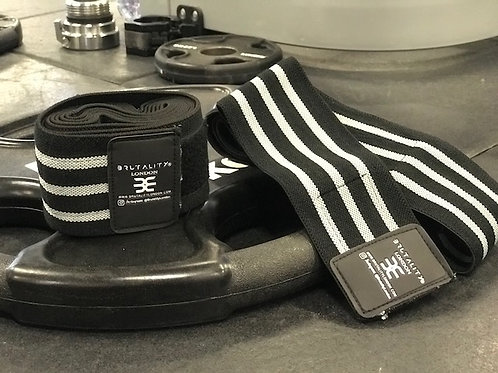 Weight Lifting Knee Wraps. Heavy Duty, Elasticated Knee Support.