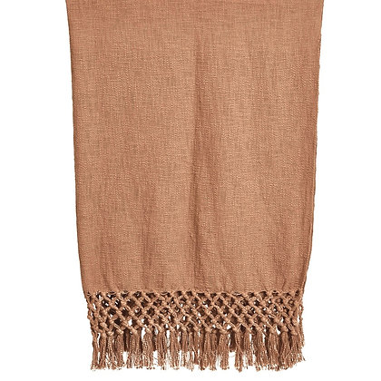 Crochet + Fringe Throw (Putty)