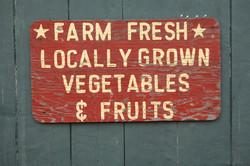 Local Farm Sign