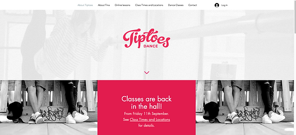 Tiptoes website