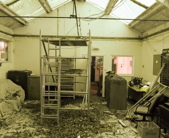 Range ceiling removal