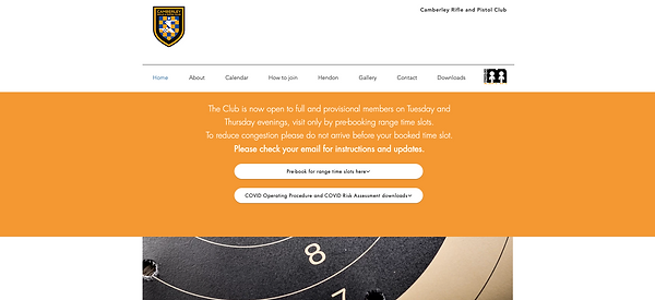 Camberley Rifle and Pistol Club website