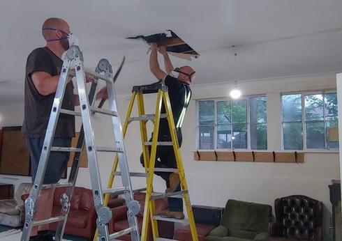 Club ceiling removal