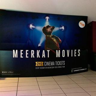 Meerkat Movies cinema stand