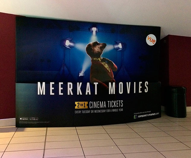 Meerkat Movies cinema stand