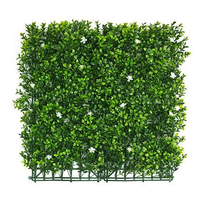 White Flower English Box 50x50cm Artificial Hedge Tile