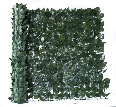 Dark Olive Ivy Artificial Hedge Roll 3m x 1m