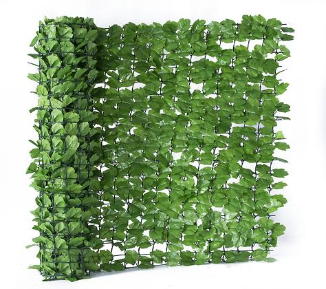 Light Green Ivy Artificial Hedge Roll 3m x 1m