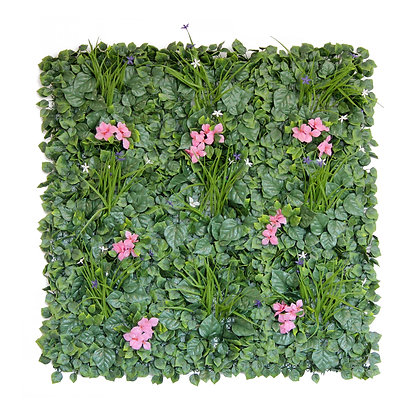 Pink Flower 1x1m Artificial Hedge Title