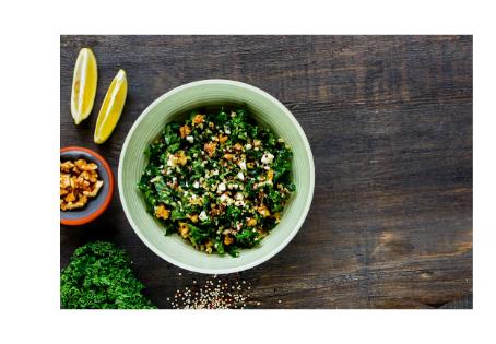 Quinoa mit Federkohl und Bärlauchpesto