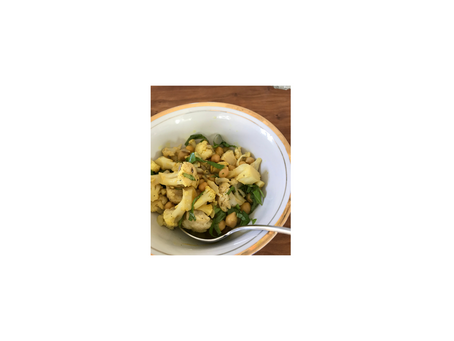 Kichererbsen- Blumenkohl Curry