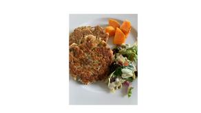 """Superfeine vegetarische """"Flocken"""" - Burger"""