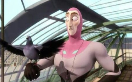 Eu, o Homem Pombo.