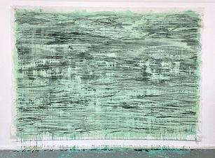 o.T. | 217 cm x 315 cm | Tempera und Kohle auf Leinwand | 2021