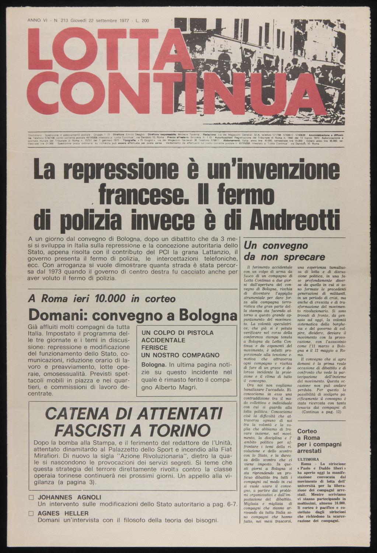 Lotta Continua, September 22, 1977