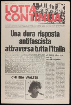 Lotta Continua, October 2-3, 1977