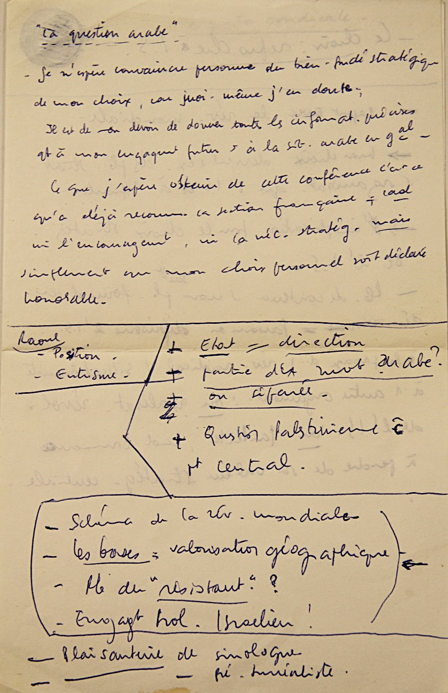 Notes Khayati, 09/1969
