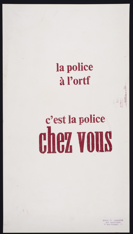 La police a l'ORTF...