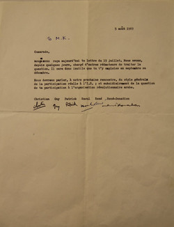 SI Letter to Khayati, 1969