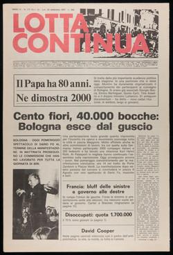 Lotta Continua,September 25-26, 1977