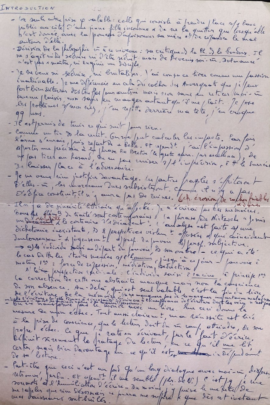 Notes, early 1960s