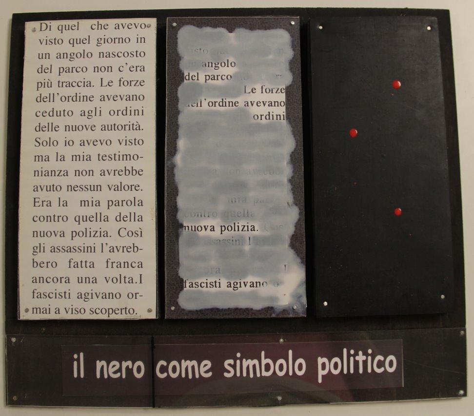 Il nero come simbolo ...,  undated