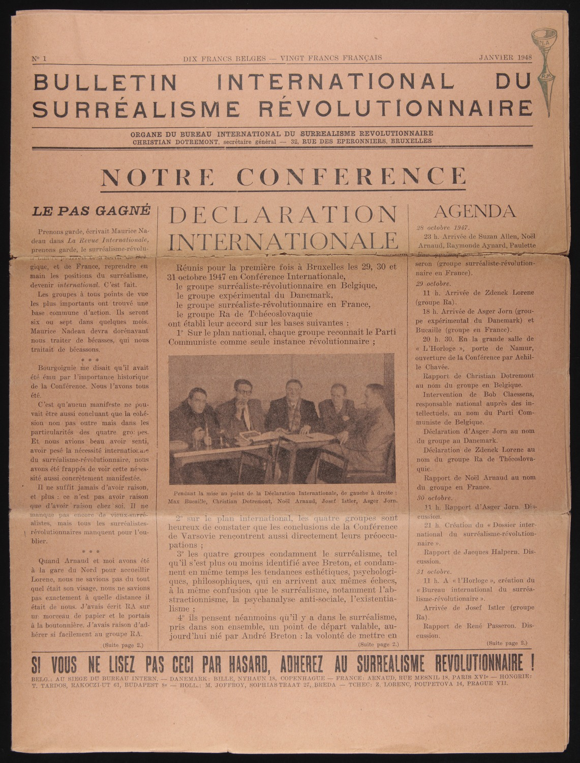 Bulletin surrealisme revolutionnaire