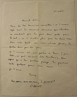 Letter to his sister Michele