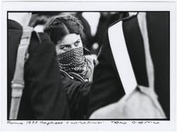 Protester and Carabinieri