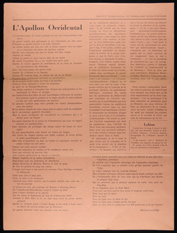 Bulletin surrealisme revolutionnaire