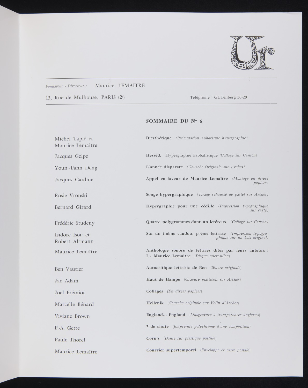 Ur 6 (1966)