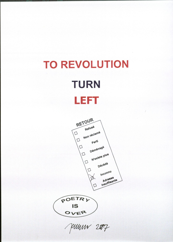 To revolution turn left