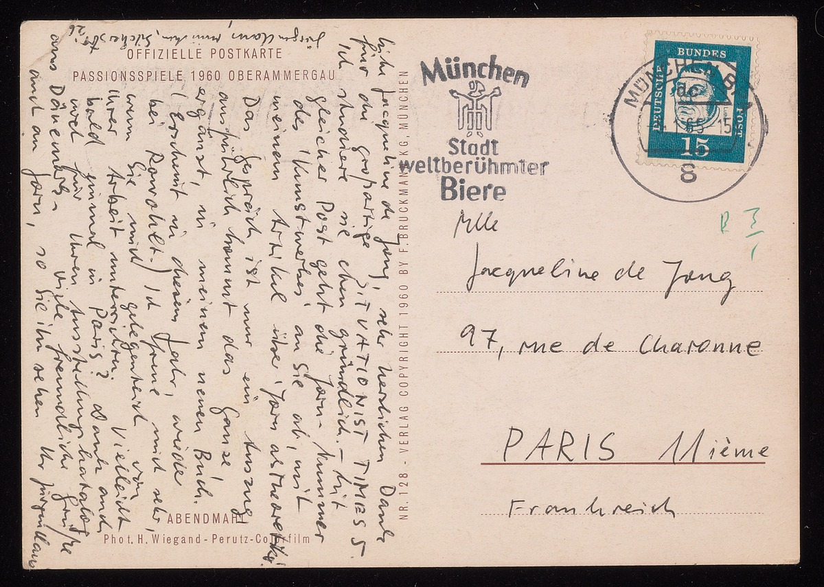 Postcard from Asger Jorn to de Jong