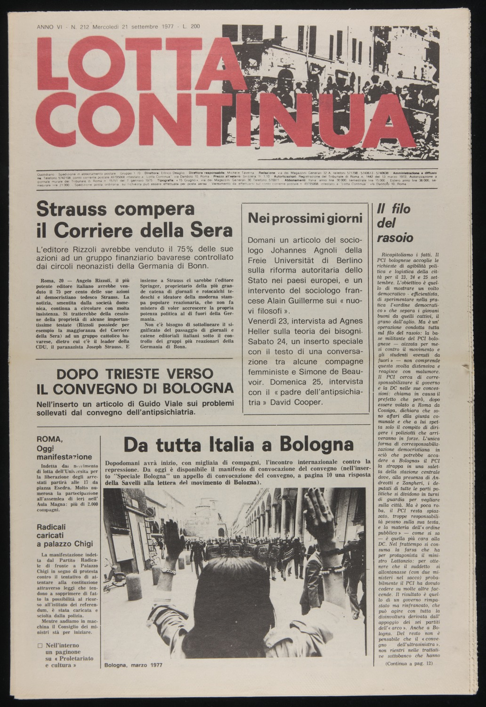 Lotta Continua, September 21, 1977