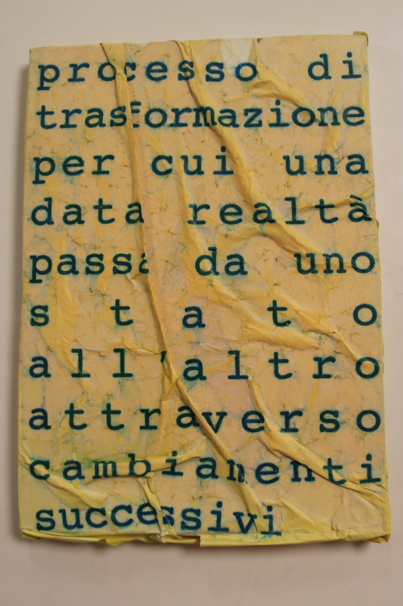 Processo di trasformazione ..., 2000