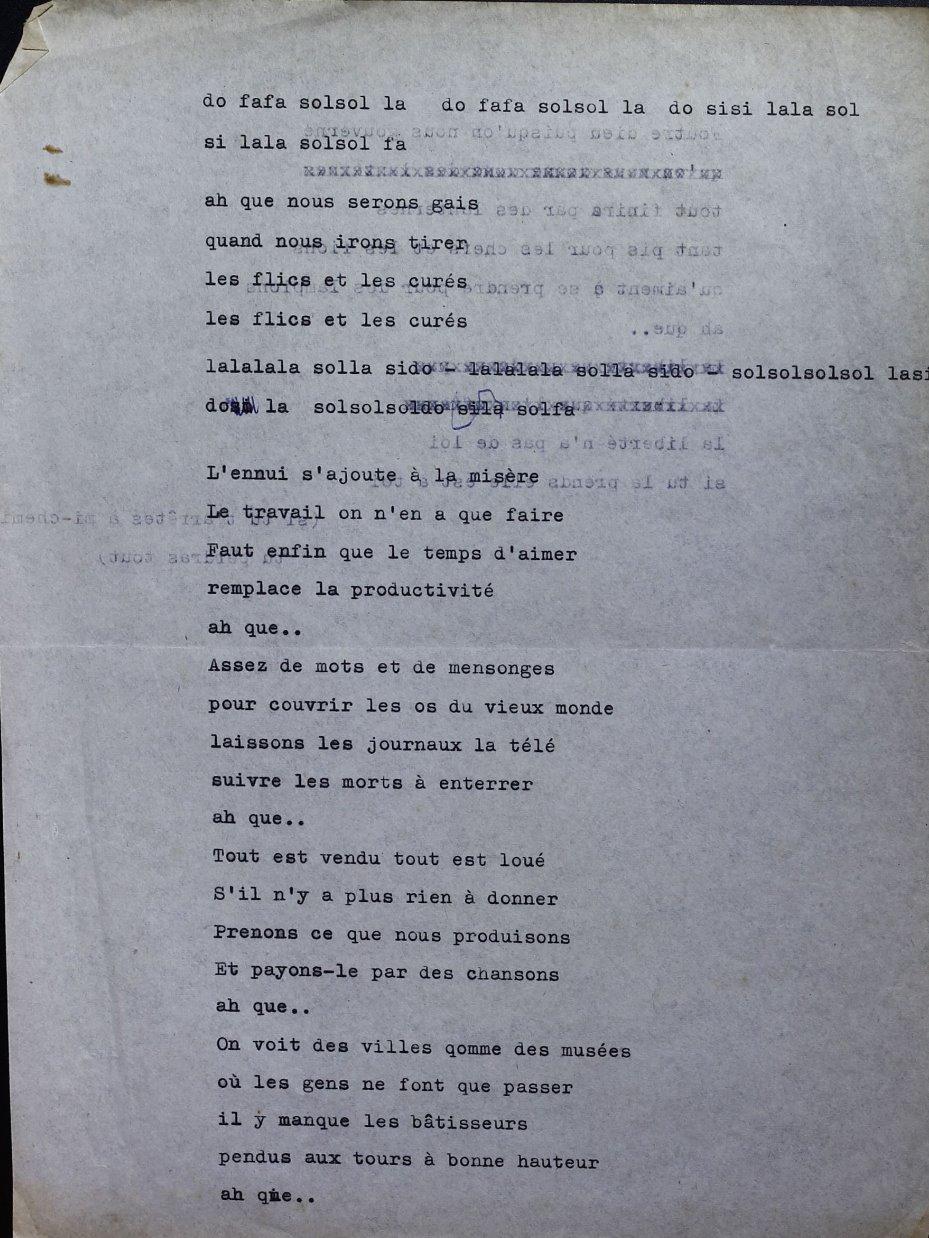 Lyrics, recto
