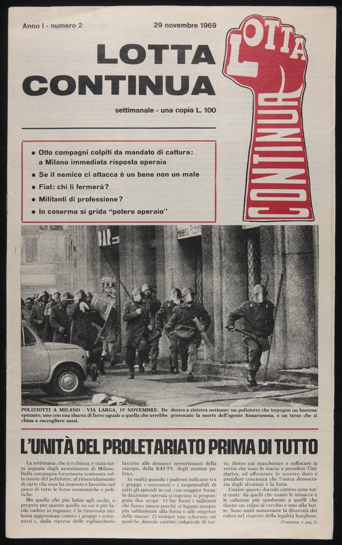 Lotta Continua, November 29, 1969