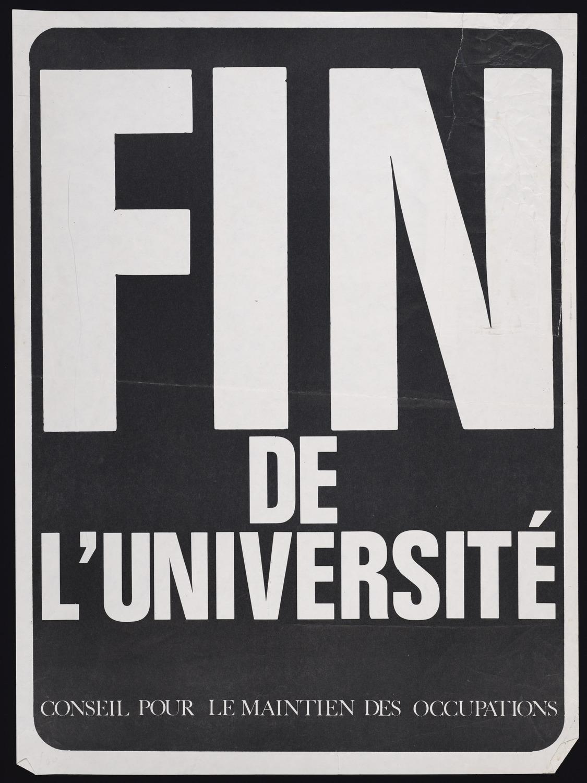 Fin de l'Universite