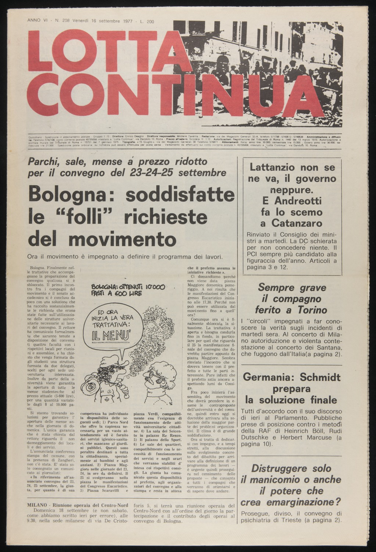 Lotta Continua, September 16, 1977