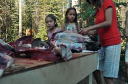 Gramma teachings of cutting up moose