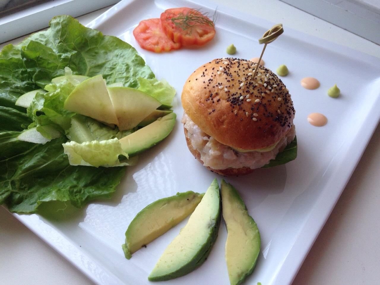 hamburger di gamberi