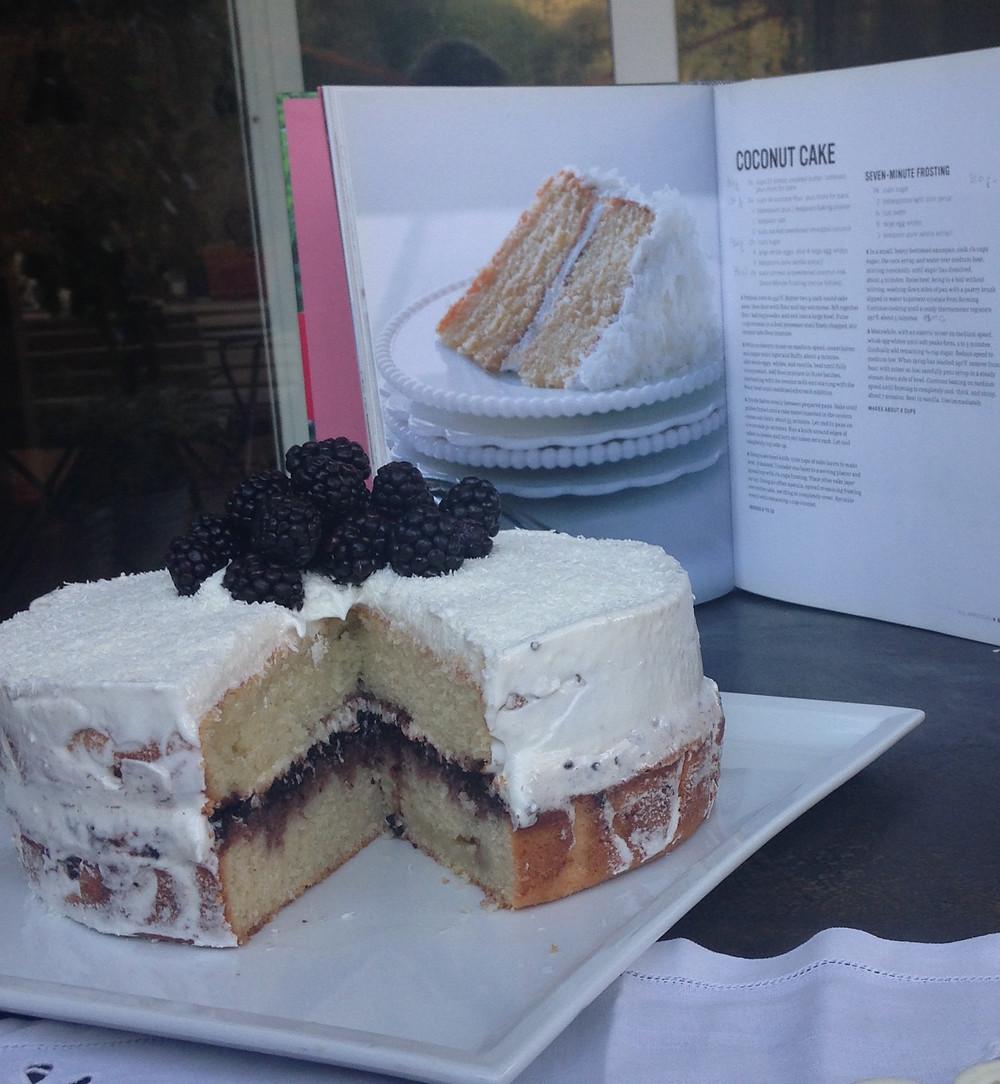coconut cake di Martha Steward