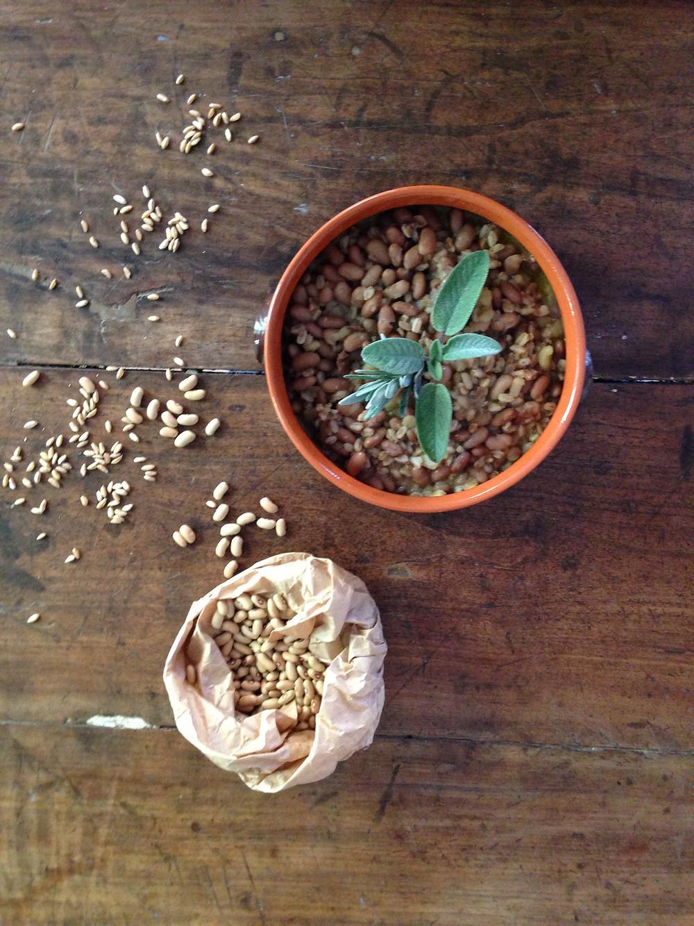 Zuppa di farro e fagiolo Giallorino